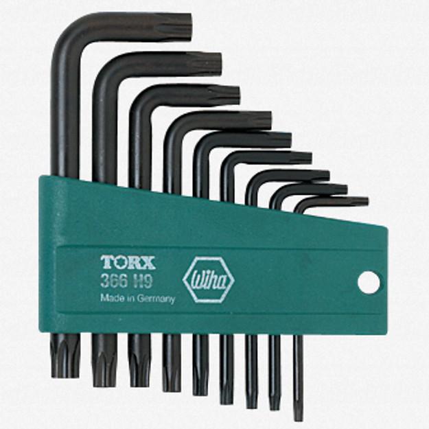 Wiha 36393 9 Piece Security Torx L-Key Set