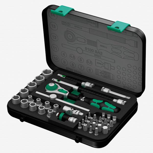 "Wera 003533 Zyklop Ratchet Premium 1/4"" Drive Metric Set"