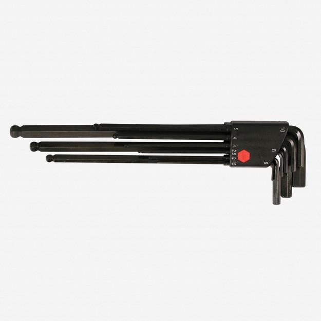 Wiha 36990 9 Piece Ball End Hex Long Arm L-Key Metric Set