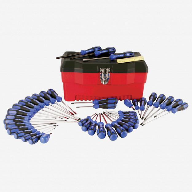 Wiha 46099 40 Piece 3K Ergonomic Slotted/Phillips/Torx/PoziDriv Tool Box