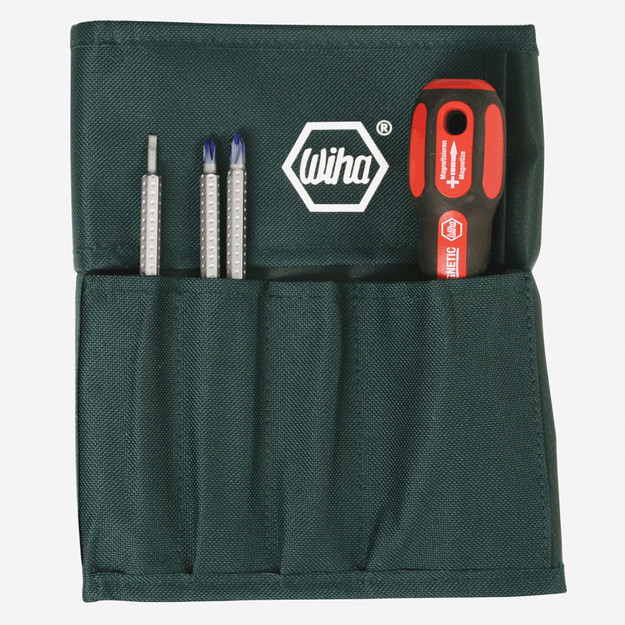 Wiha 48190 7 Piece Slotted/Phillips Interchangeable Blade Pouch Set - KC Tool