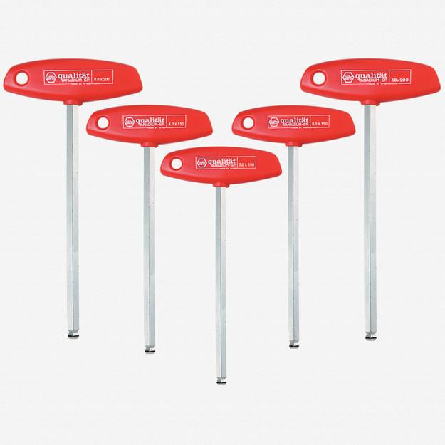 Wiha 54090 5 Piece MagicRing Ball End Hex Metric T-handle Set