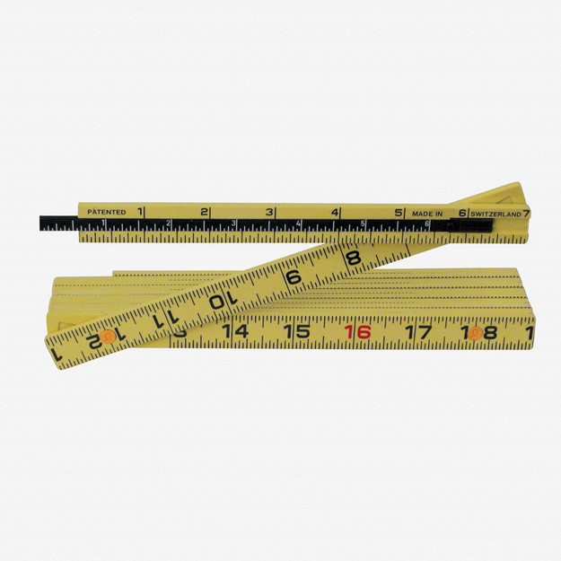 Wiha 61620 MaxiFlex Folding Ruler 6' Outside Reading w/ Depth Gauge