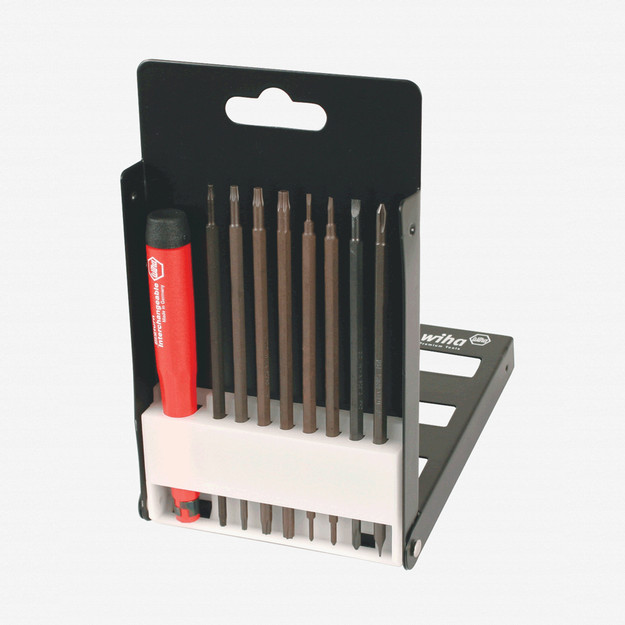 Wiha 62993 9 Piece Proturn Precision Slotted/Phillips/Torx Blade Screwdriver Set - KC Tool