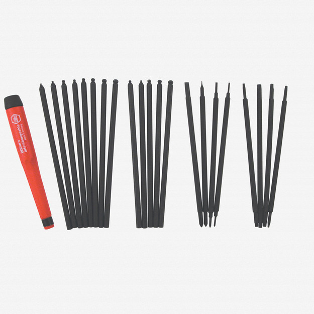 Wiha 62995 22 Piece Proturn Precision Slotted/Phillips/Hex/Torx Blade Screwdriver Set - KC Tool