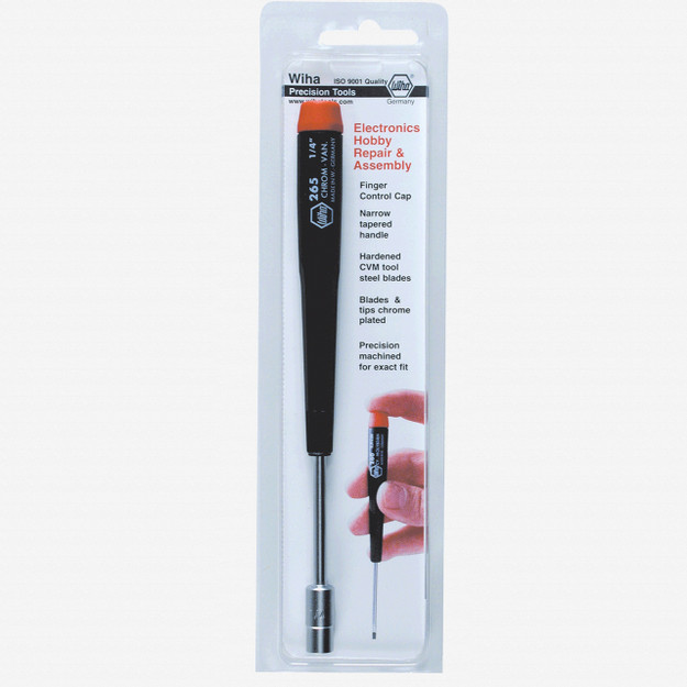 "Wiha 96556 7/32"" x 60mm Precision Nut Driver (Retail Pack) - KC Tool"