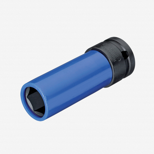 "Gedore K 19 LS 17 Impact socket 1/2"" with protective sleeve, 17 mm"