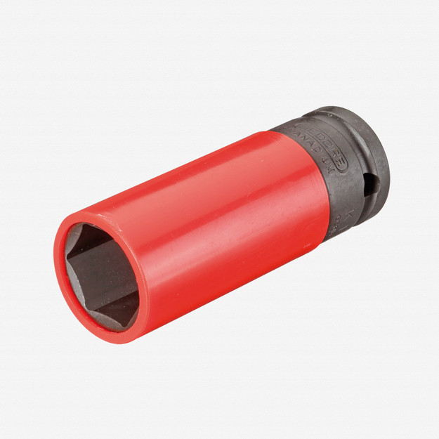 "Gedore K 19 LS 21 Impact socket 1/2"" with protective sleeve, 21 mm"