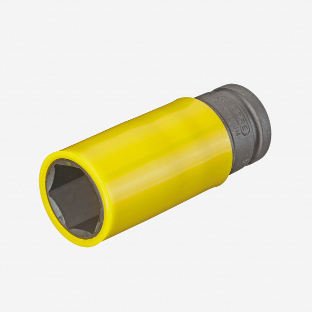 "Gedore K 19 LS 22 Impact socket 1/2"" with protective sleeve, 22 mm"