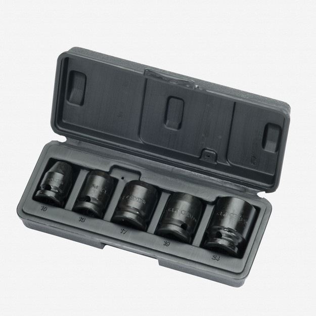 "Gedore K 19-028 Car impact socket set 1/2"" 5 pcs hex 10-24 mm"