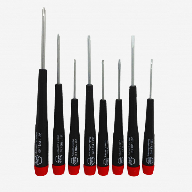 Wiha Custom 8 Piece Precision Slotted, Phillips, and Torx Technician Set - KC Tool
