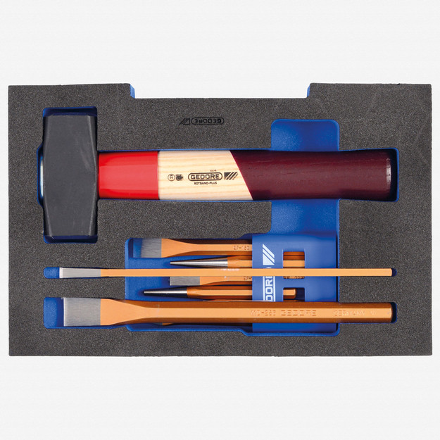 Gedore 1100 CT1-350 Chisel set in 1/2 L-BOXX 136 Module
