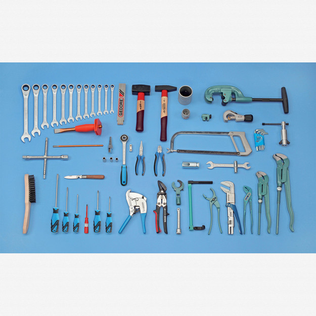 Gedore S 1024 Sanitary tool assortment PROFI, 62 pcs - KC Tool