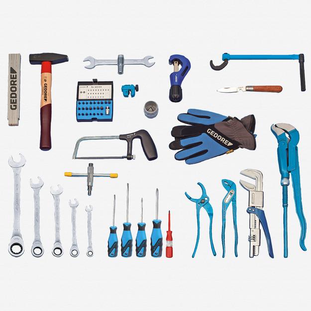 Gedore S 1025 Sanitary tool assortment STARTER, 49 pcs