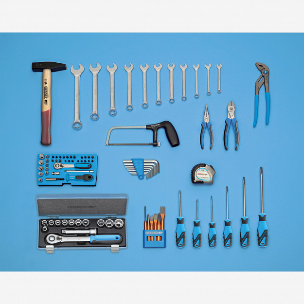 Gedore S 1016 Basic tool assortment, 87 pcs