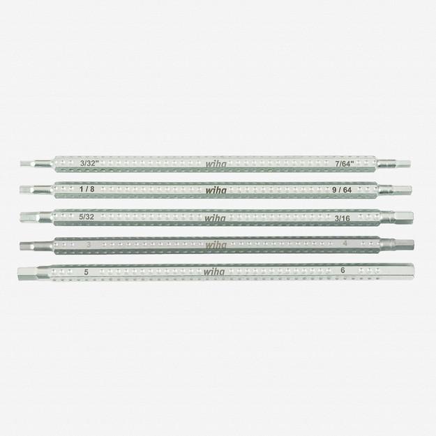 Wiha 28474 Hex Inch + Metric Drive-Loc 5 Blade Set - KC Tool