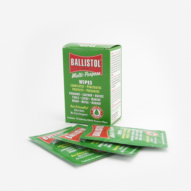 Ballistol Multi-Purpose Tool Oil Wipes - 10 Pack