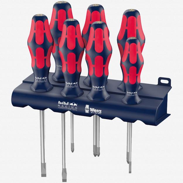 Wera 227700 Red Bull Racing Kraftform Plus Screwdriver Set + Rack
