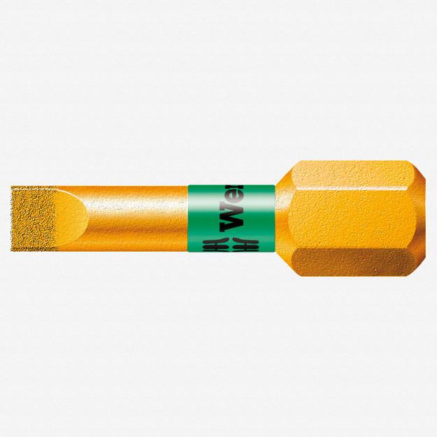 Wera 056176 1.2 x 6.5 x 25mm Slotted BiTorsion Diamond Coated Bit - KC Tool