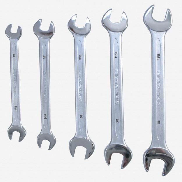 Wiha (Heyco) 35099 5 Piece Open End Wrench Set - Inch