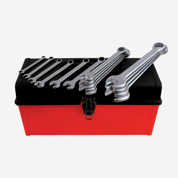 Wiha (Heyco) 40097 15 Piece SAE Combination Wrench Tool Box Set
