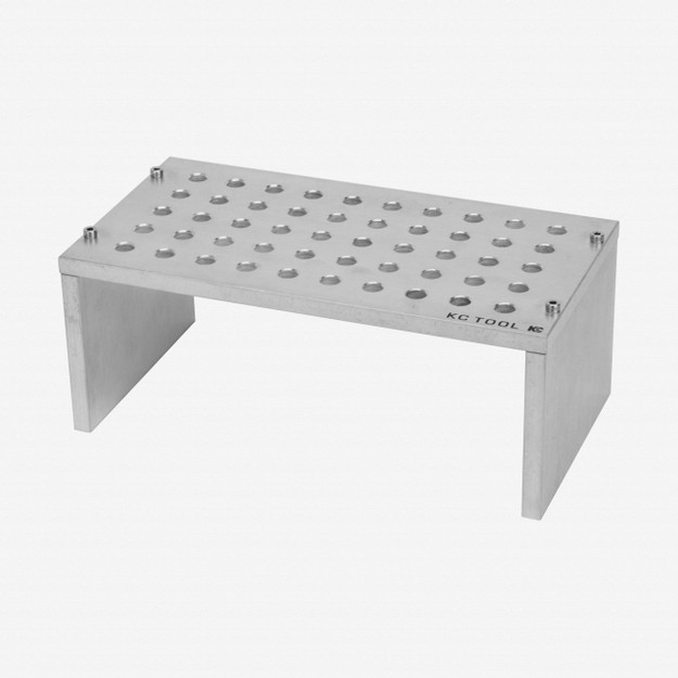 KC Tool Aluminum Bench Top Stand for Precision Tools - 50 Holes, Tumbled Finish
