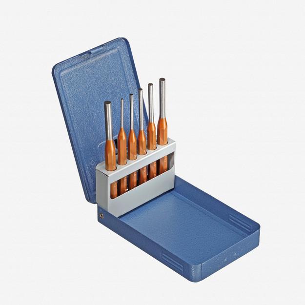 Gedore 116 D Pin punch set 6 pcs in metal case