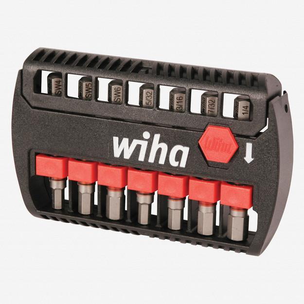 Wiha 76894 8 Piece Hex Inch / SAE and Metric Bit Buddy Terminator Impact Power Bit Set