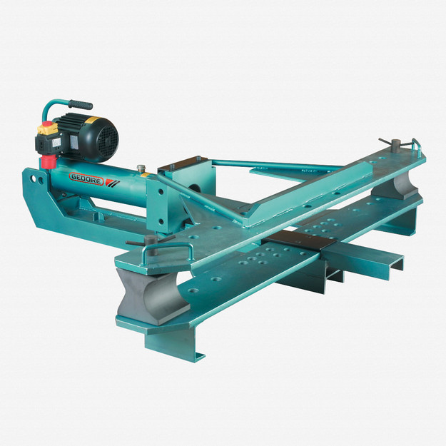Gedore 261510 Pipe bending machine, electro-hydraulic, fold-open, with bending formers