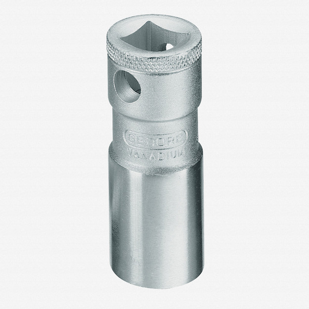 """Gedore 57 Spark plug socket with retention spring 18 mm 1/2"""""""