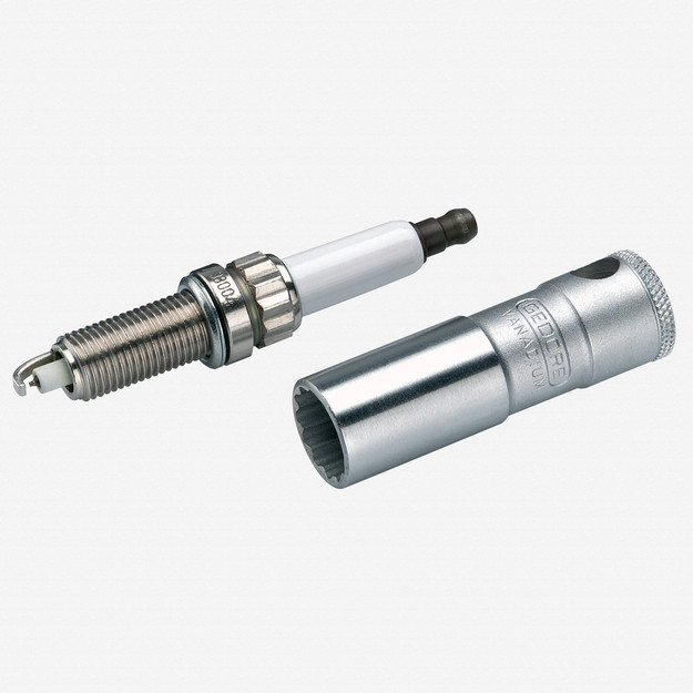 """Gedore D 55 Spark plug socket with retention spring 14 mm 3/8"""""""