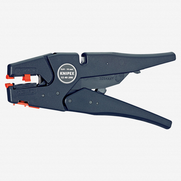 Knipex 12-40-200 Self-Adjusting Wire Insulation Strippers - AWG 32-7