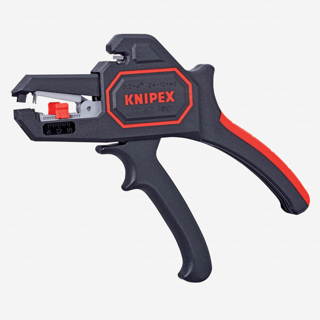 Knipex 12-62-180 Automatic Wire Insulation Stripper - AWG 24-10