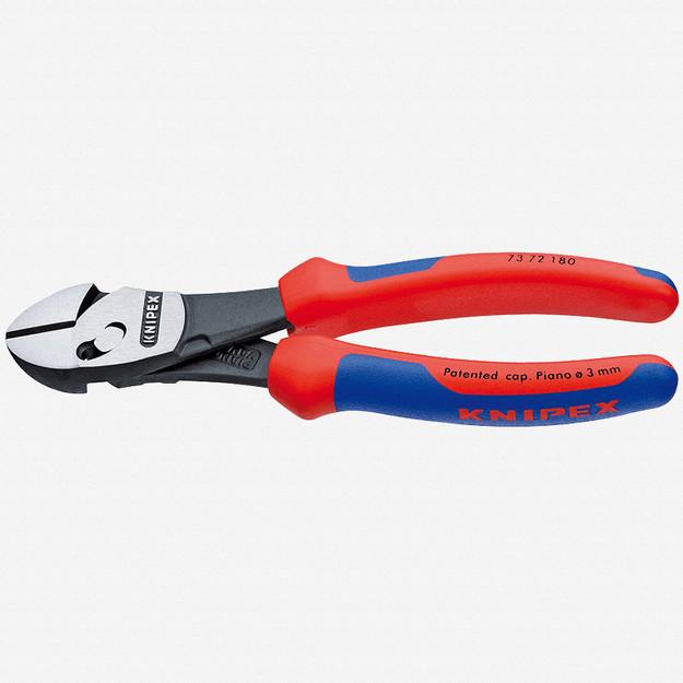"""Knipex 73-72-180 7"""" Twinforce Diagonal Super Cutter - Comfort Grip"""