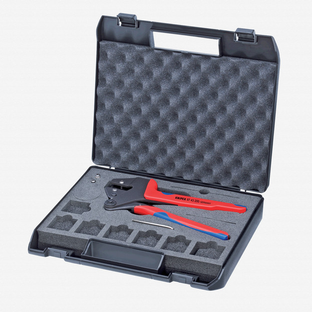 Knipex 97-43-200 Crimp System Pliers for exchangeable crimping dies w/ Case