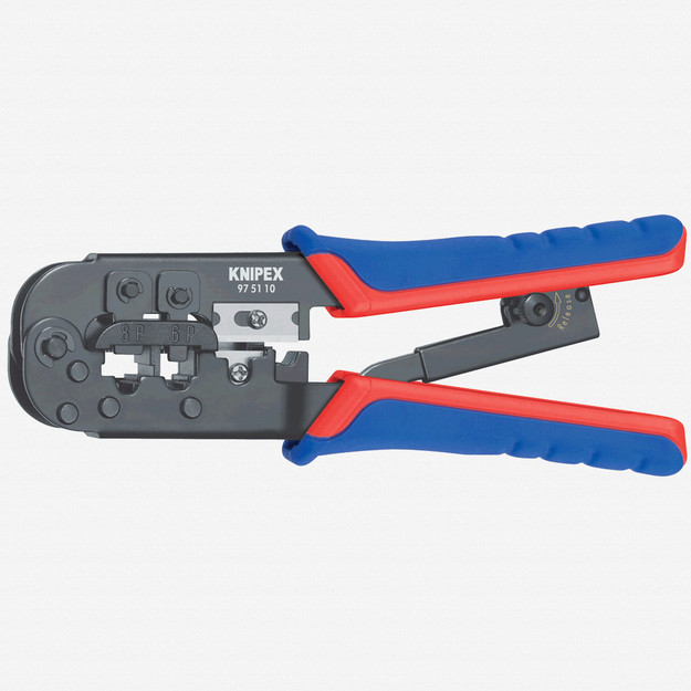 Knipex 97-51-10 Crimping Pliers for Western plugs - MultiGrip