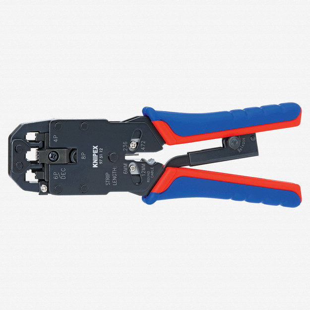 Knipex 97-51-12 Crimping Pliers for Western plugs (toggle lever action) - MultiGrip