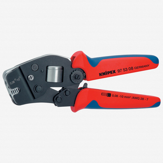 Knipex 97-53-08 Self-Adjusting Crimping Pliers - End Sleevs (ferrules) also parallel loading