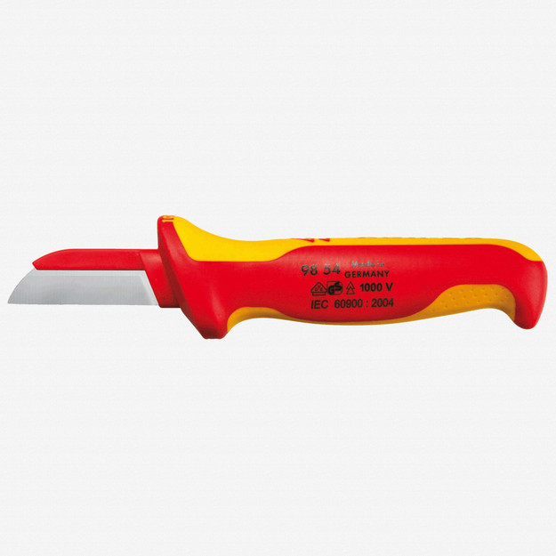 Knipex 98-54 Insulated Cable Knife - Plastic Back