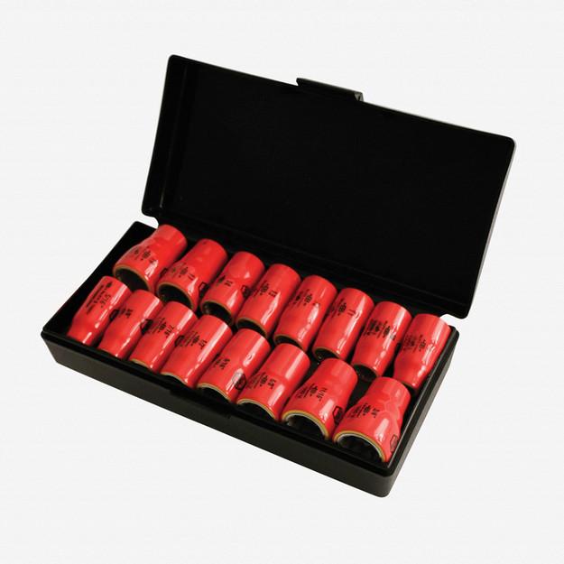 "Wiha 31491 16 Piece Insulated 3/8"" Drive Inch/Metric Socket Box Set"