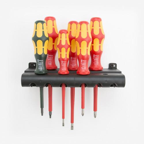 wera tools 347777 vde insulated slotted phillips square screwdriver set rack. Black Bedroom Furniture Sets. Home Design Ideas