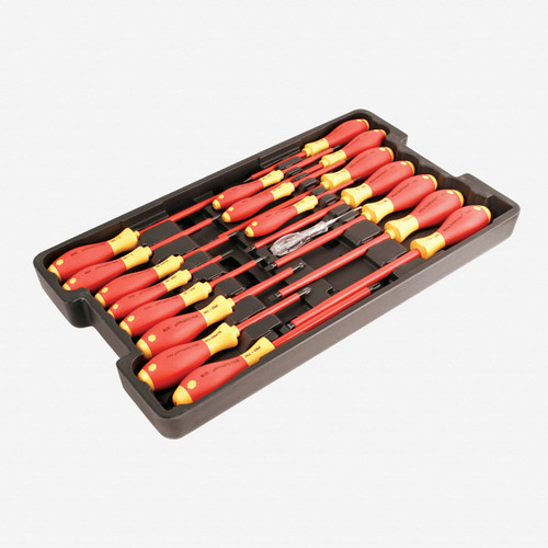 wiha 32095 insulated screwdriver set in tray 19 pc. Black Bedroom Furniture Sets. Home Design Ideas