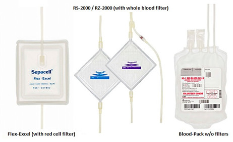 Fenwal Blood Pack Units With Red Cell Filter Whole Blood