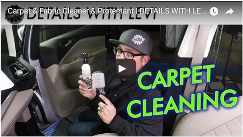 Carpet & Fabric Cleaner & Protectant | DETAILS WITH LEVI