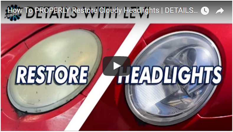 How To PROPERLY Restore Cloudy Headlights | DETAILS WITH LEVI