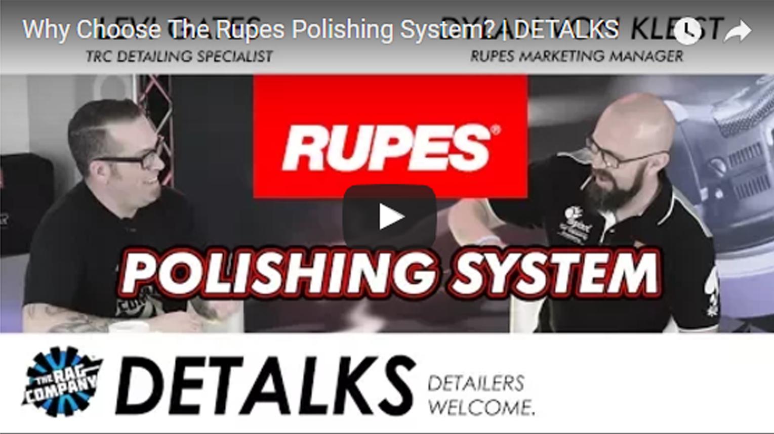 Why Choose The Rupes Polishing System? | DETALKS