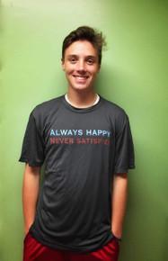 Men's Always Happy Never Satisfied T-Shirt