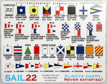 Racing Signal Flag Sticker - Sail22