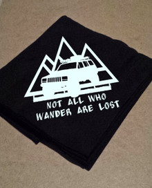 XJ- Not All Who Wander Are Lost Blanket