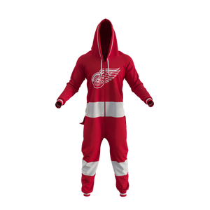 Detroit Red Wings NHL Onesie Pajama - front view